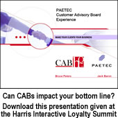 Can CABs impact your bottom line? Download this presentation given at the Harris Interactive Loyalty Summit